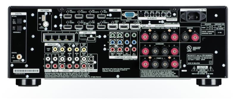 Sony STR-DA2800ES, задняя панель