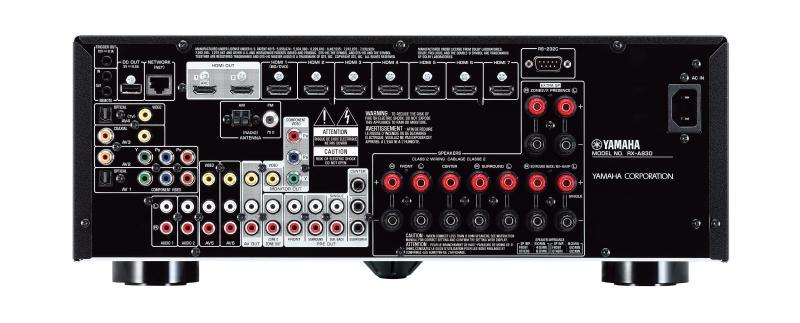 Yamaha RX-A830, задняя панель