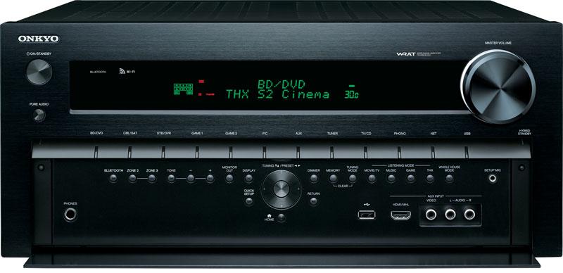 Onkyo TX-NR828, передняя панель